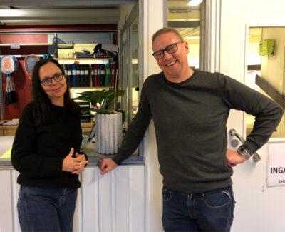 Lena och Göran på Idrottshuset i Växjö